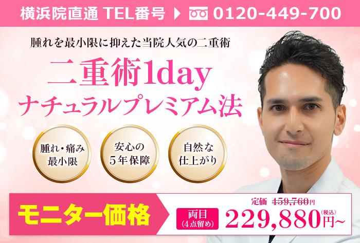 横浜院城石医師による二重術1dayナチュラルプレミアム法4点留め  ¥459.760→¥229.880