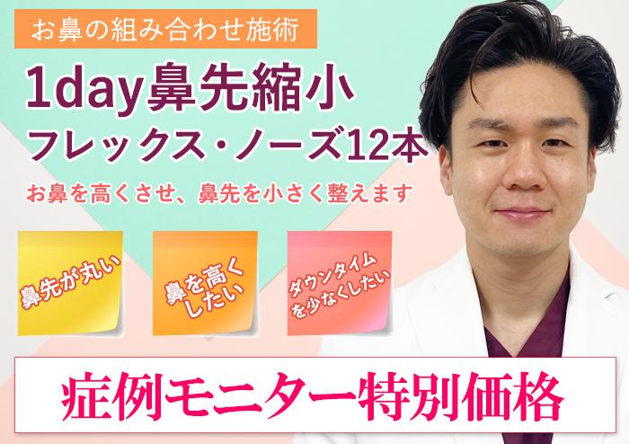 【お鼻の組み合わせ治療】1day鼻先修正 + フレックス・ノーズ 12本  300,000円(税込)